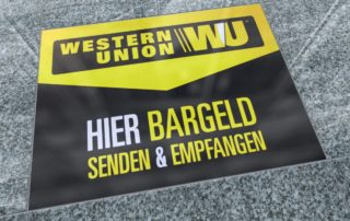Effektive Bodenwerbung von Western Union