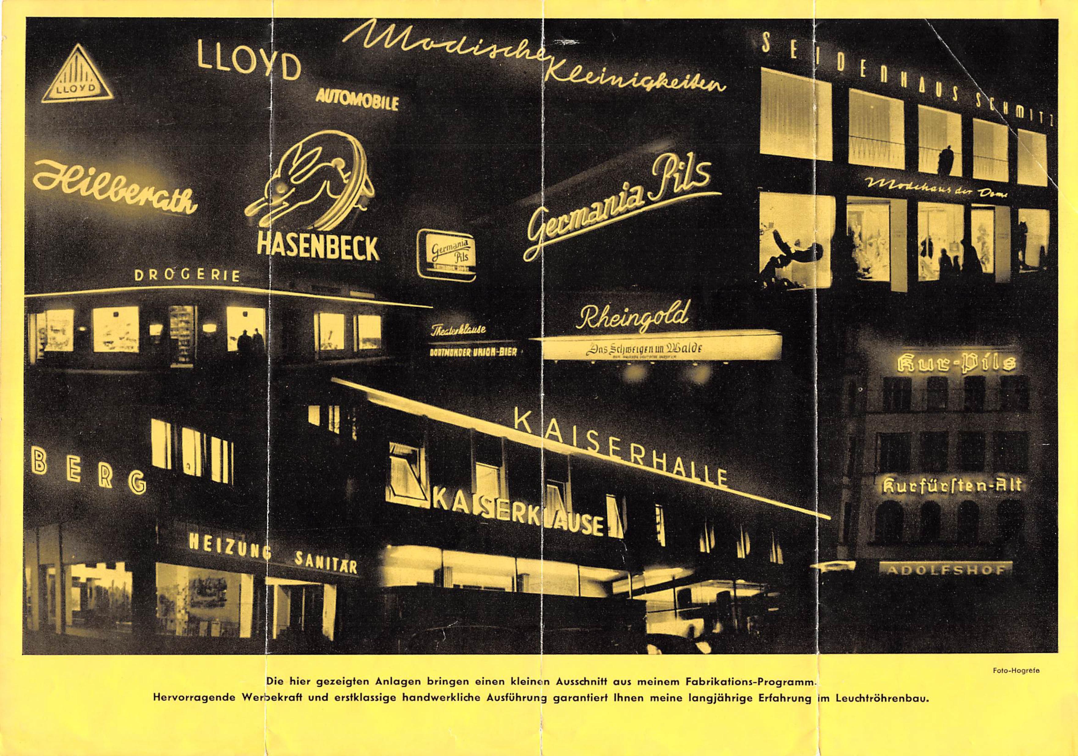 Altes Werbeplakat von Greiner Werbetechnik
