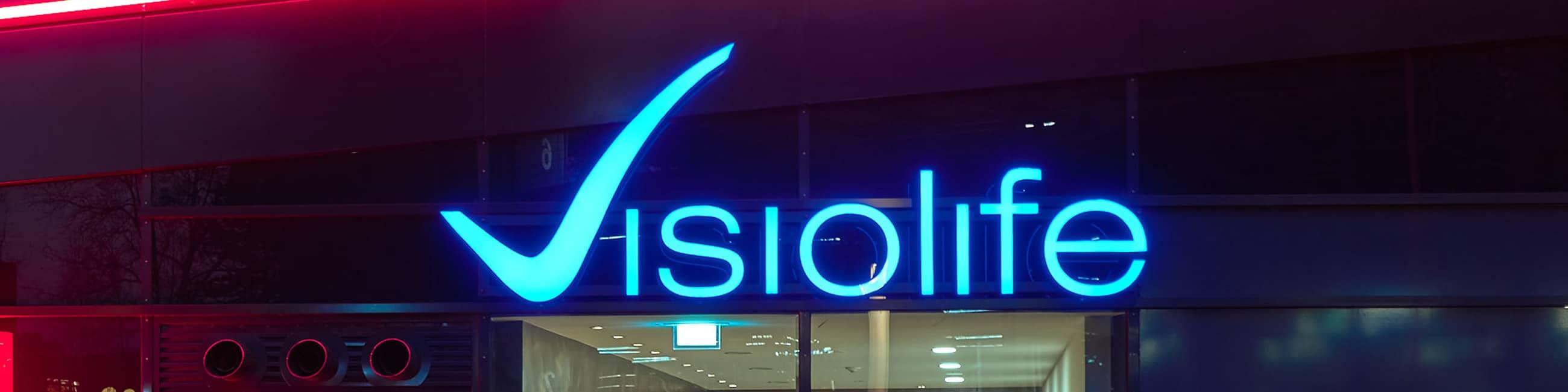 Intensive Leuchtbuchstaben von Visiolife
